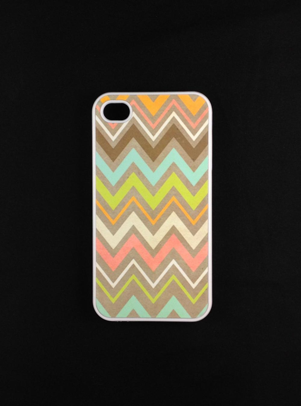 Iphone 4 Case - Tribal Chevron Iphone 4s Case, Iphone Case, Iphone 4 Cover